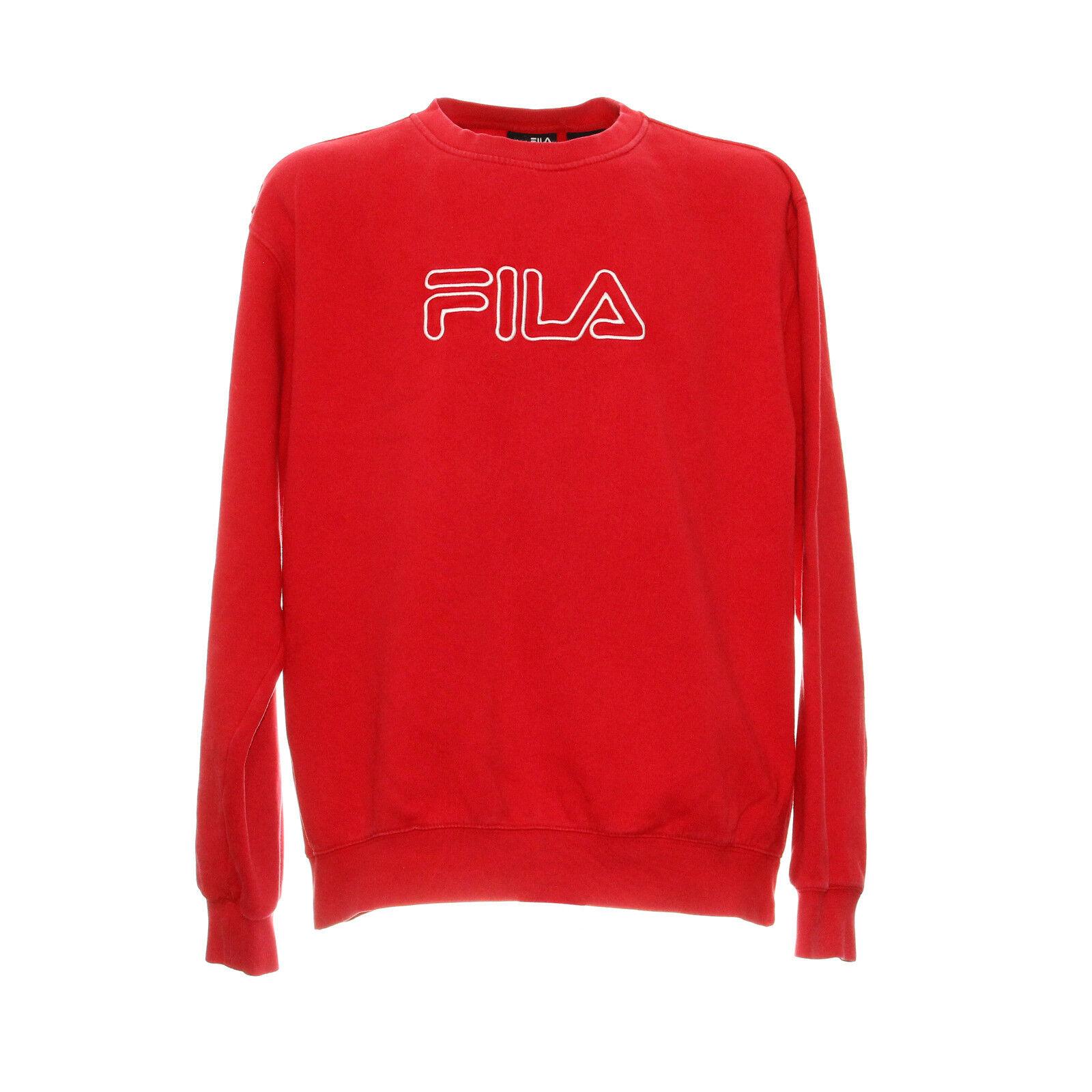 Vintage Fila Sweatshirt Langarm Größe 2XL XXL Retro Pullover Pulli Rot Stickerei