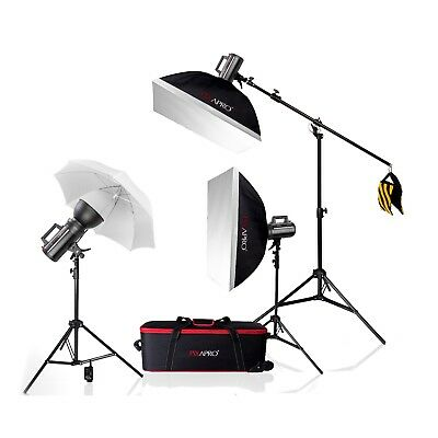 Studio Flash System 1200Ws 3 Point Photo Lighting Kit Bowens S fit Portrait Nude System Flash Kit
