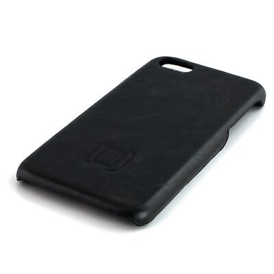 (Vintage Style Synthetic Leather Snap-on Shell Case for iPhone 7, 7 Plus (Black))