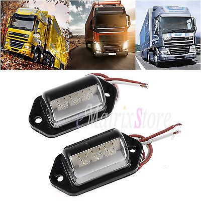 2x3 LED Rear License Number Plate Light Lamp For Truck Van Lorry Trailer 12V/24V