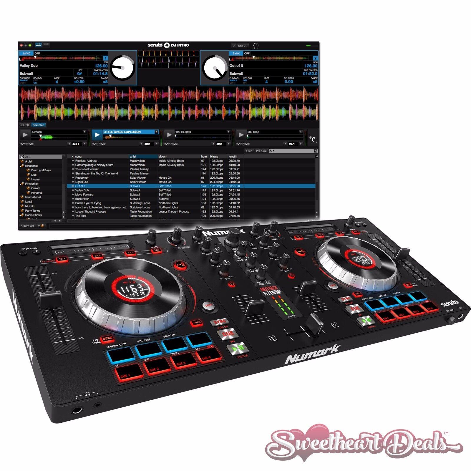 Détails sur NUMARK MIXTRACK Platinum-DJ controller Jog Wheel Display SERATO  DJ INTRO- afficher le titre d'origine