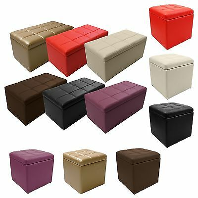 Storage Bench Seating - Unfold Leather Storage Ottoman Bench Footstool Seat Cocktail Coffee End Table