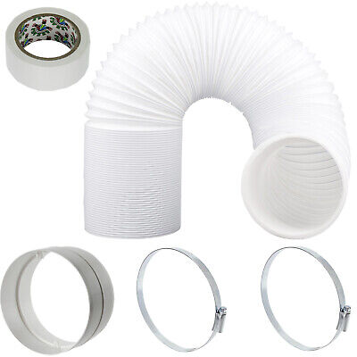 "UNIVERSAL Hose Pipe Vent PVC Extension Kit 6m 5"" 125mm for Air Conditioner"