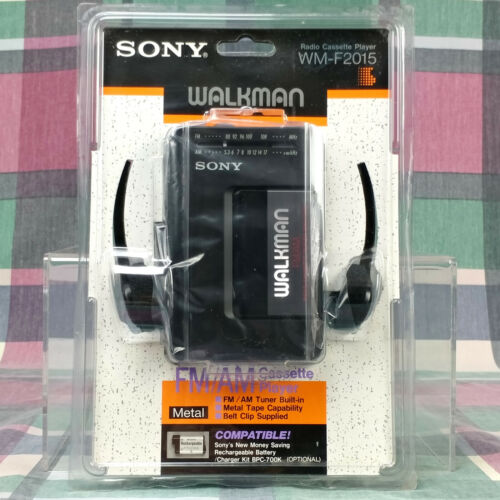 Vintage Sony Walkman WM-F2015 Stereo Cassette Player FM/AM Radio NIB Sealed New