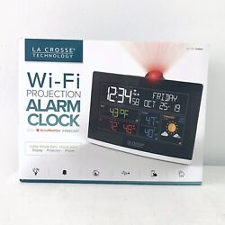 La Crosse Technology C82929 WiFi Projection Weather Alarm Clock Black New Sealed
