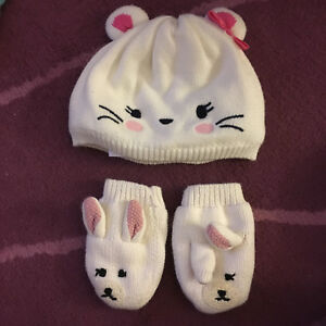 Baby girl clothes winter-hat and mittens 12-24 months Gymboree