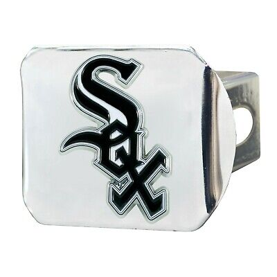 Fanmats MLB Chicago White Sox 3D Color on Chrome Metal Hitch Cover Del 2-4 Day