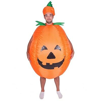 Adult Funny Scary Inflatable Pumpkin Costume Outfit Suit Halloween One Size