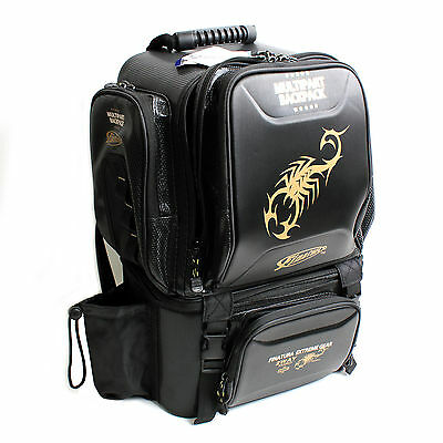 Fishing Tackle Bag Multipurpose Backpack Reel Case Pouch