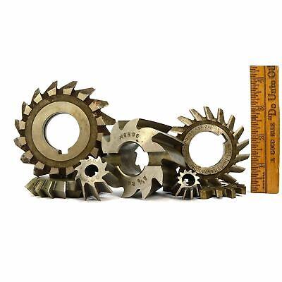 Steampunk Side Milling Cutter Lot Of 7 Mill Cutters Brown Sharpe Fd Morse