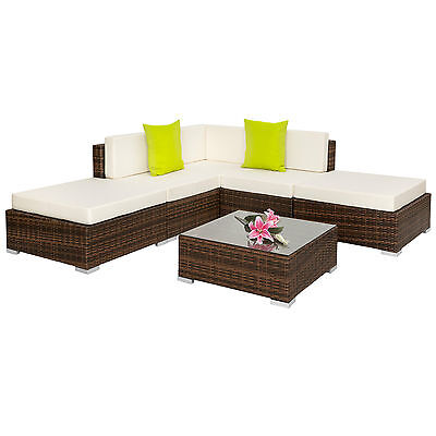 Alu Polyrattan Sitzgruppe Lounge Rattanmöbel Gartenmöbel Couch Tisch Set BWare