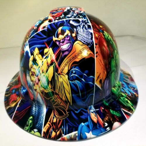 FULL BRIM Hard Hat custom hydro dipped , NEW SUPER HEROES END GAME NEW PYRAMEX