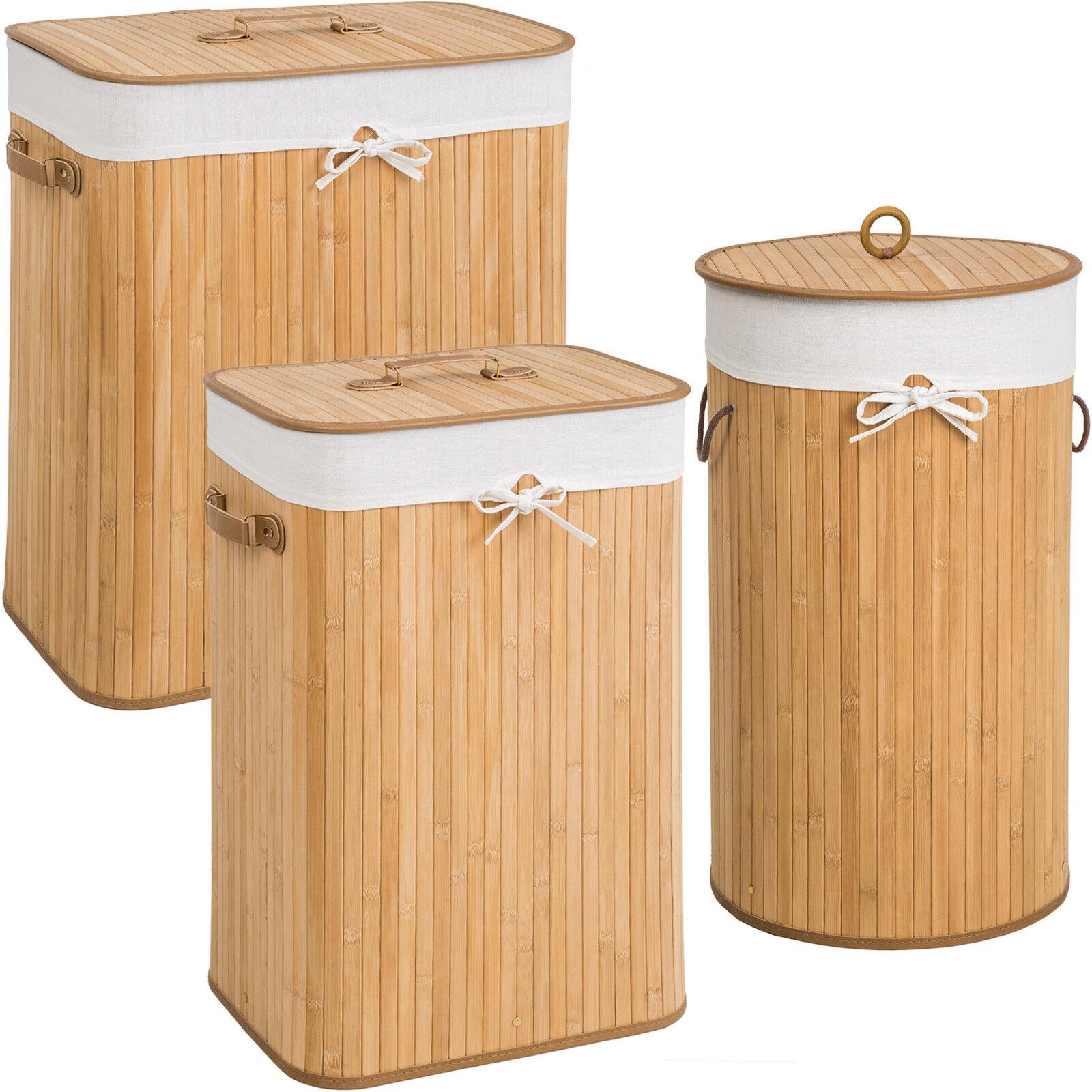 Bambus Wäschekorb Wäschesammler Wäschetruhe Wäschebox Wäschetonne Box natural