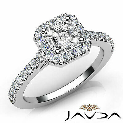 Asscher Cut Diamond Engagement GIA H SI1 18k Yellow Gold Prong Set Ring 1.23Ct  7