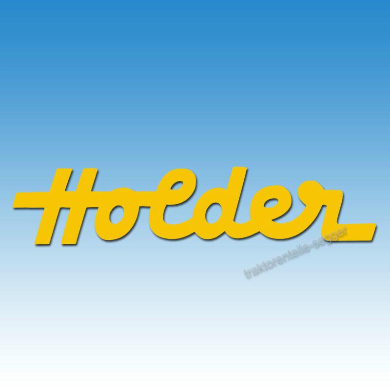"""Aufkleber-Schriftzug """"Holder"""" in gelb Traktor Schlepper 01572 Foto 1"""