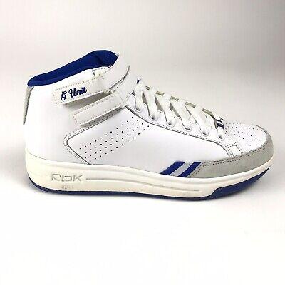Reebok RBK G Unit G6 Mid Womens Size 7.5 Shoes White Blue 10-112371 Straps