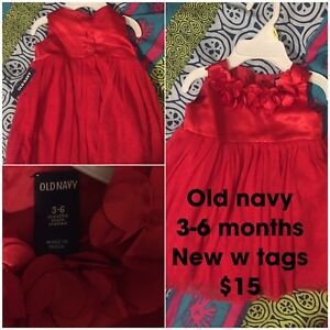 Girls old navy 3-6 months dress. New w tags $15