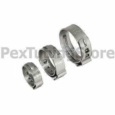 100 12 Pex Grip Non-slip Stainless Steel Cinch Clamps Ssc By Oetiker