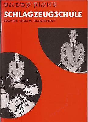 Schlagzeug - BUDDY RICH´S SCHLAGZEUGSCHULE - SNARE DRUM RUDIMENT