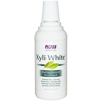 Xyliwhite Mouthwash Refreshmint Organic Product 16oz Now Solutions Free Shipping