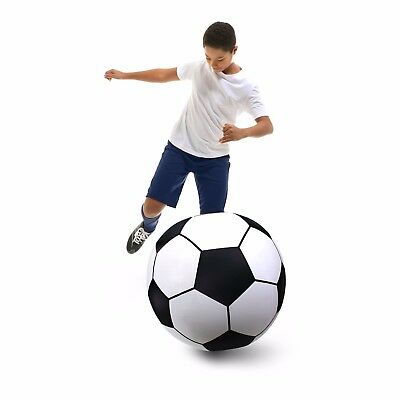 GoFloats Giant Inflatable Soccer Ball - Premium Raft Grade Vinyl, 2.5'