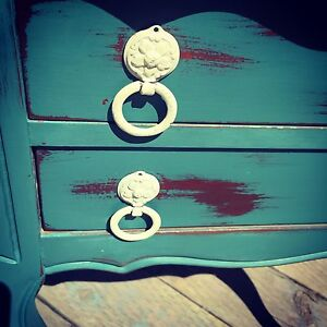 Rustic shabby chic end table bedside