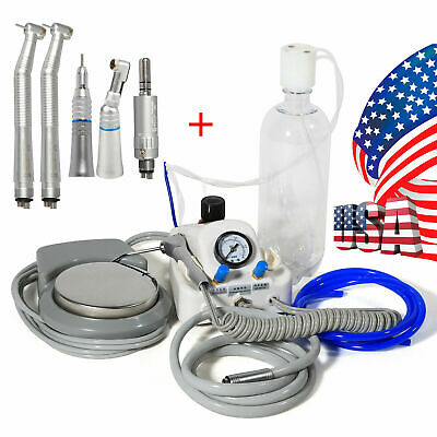 Dental Portable Air Turbine Unit Work Wcompressor High Low Handpiece Kit 4-h