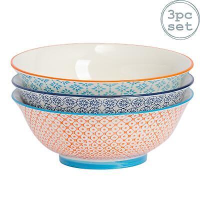 Modelado Porcelana Tazón de cereal Desayuno Tazones Vintage Estampado Floral Cachemira x6