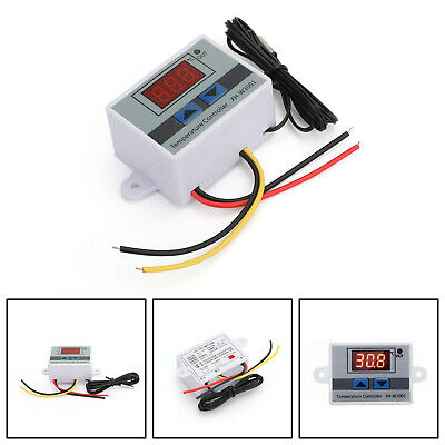 110-220v Digital Led Temperature Controller Thermostat Xh-w3002 Switch Probe Usa