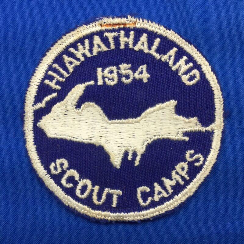 Boy Scout Camp Patch 1954 Hiawathaland Scout Camps