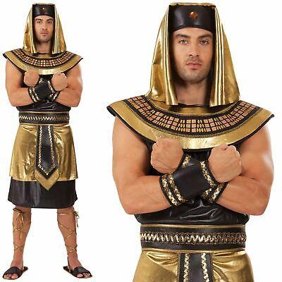 Mens Egyptian King Pharaoh Ancient Egypt Greek God Fancy Dress Costume Adult - Greek God Costumes Men
