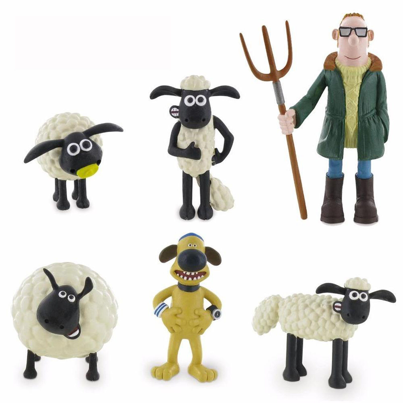 Comansi Shaun The Sheep Toy Figures Great For Cake