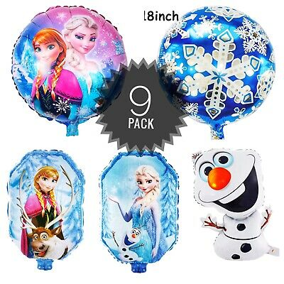 Elsa Birthday Party (Frozen balloons Anna, Elsa, Olaf Birthday Party Foil Balloon 9)