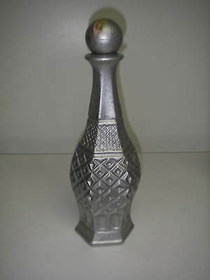 BOTTLE/Decanter w Stopper Genuine Regal China Silver James Beam Kentucky.