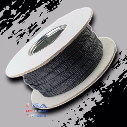 "3/8"" 50 ft Expandable Braided conduit Wire Cable Weave Sleeve hose cover tube US"