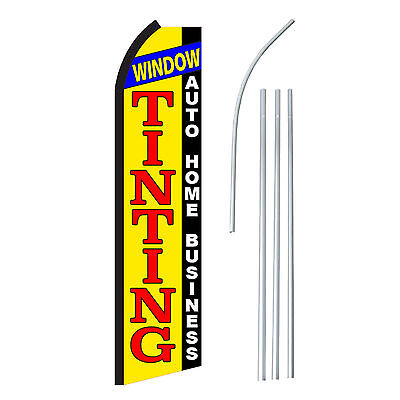 Window Tinting - Advertising Sign Swooper Feather Banner Flag Pole Only