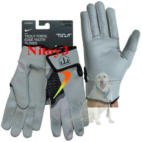 NIKE Trout Edge 2.0 Baseball Batting Gloves Youth Large    (T)