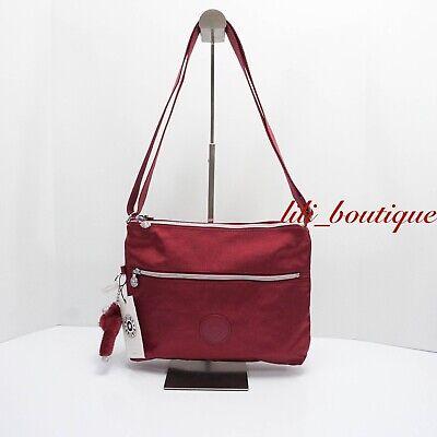 NWT New Kipling KI0959 Annabellea Crossbody Bag Double Zip Polyamide Nylon Red