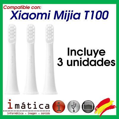 3 X REPUESTO PARA CEPILLO DE DIENTES ELECTRICO XIAOMI MIJIA T100 CABEZAL...