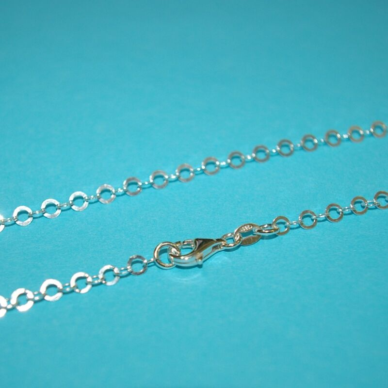 """3 pieces 24"""" 60cm Solid 925 Sterling Silver 4mm Flat Circles Chain NECKLACES Lot"""
