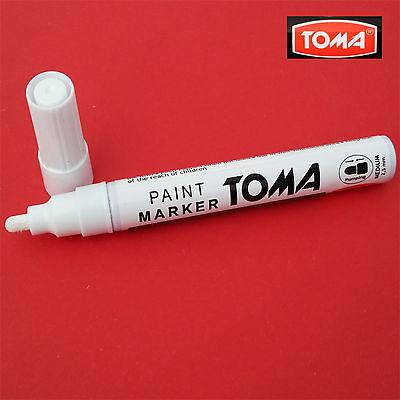 White Permanent Oil Based Paint Pen Car Bike Tyre Tire Metal Marker waterproof