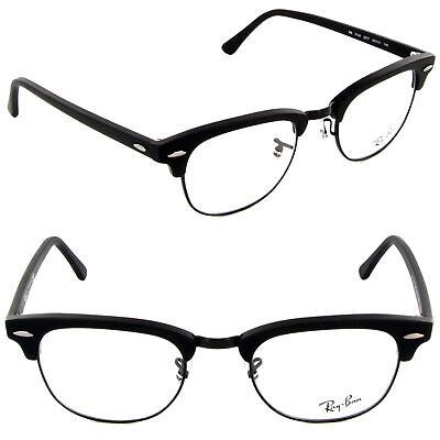 Ray Ban Clubmaster Eyeglasses RX5154 2077 49mm Matte Black/Demo Lens (Ray-ban Rx5154 Clubmaster Eyeglasses)