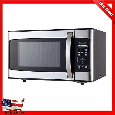 Countertop Kitchen Digital LED Microwave Oven Hamilton Beach 1.1 Cu ft 1000W