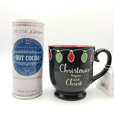 NEW Coffee Mug With Hot Cocoa Mix Salted Caramel Best Valentines Day Gift Set