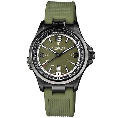 Victorinox Night Vision Quartz Movement Green Dial Men's Watch 241595