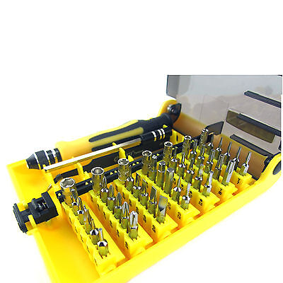 New 45 iN 1 High Quality Hardware Screw Driver Laptops Manual Tool Set Kit