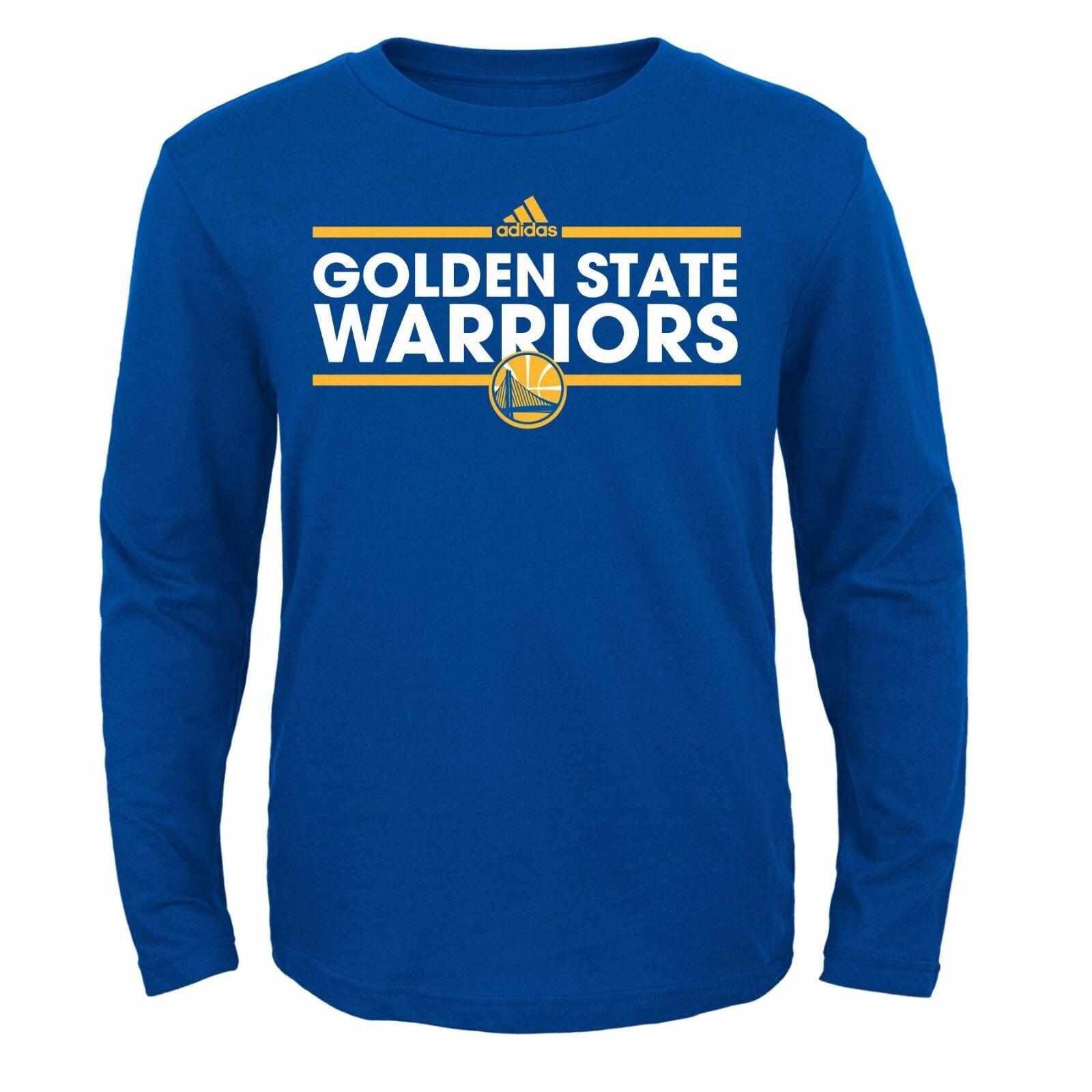 realeza Creyente Aditivo  Adidas NBA Golden State Warriors (Youth) Dassler Climalite Long Sleeve T- Shirt | eBay