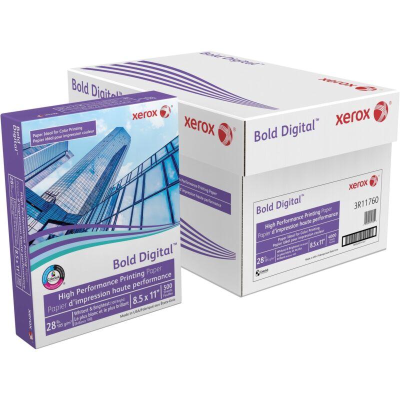 Xerox Bold Digital Printing Paper 8 1/2 x 11 White 500 Sheets/RM 3R11760