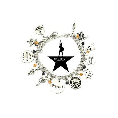 Broadway Musical Hamilton Jewelry Merchandise Charm Bracelet Rise Up Friendship - Friendship Charm Bracelets
