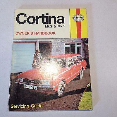 Ford Cortina Mk3 Mk4 Mk1V  Haynes Owners Handbook Manual
